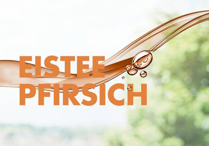 Elisabethen Quelle Eistee Pfirsich Schriftzug