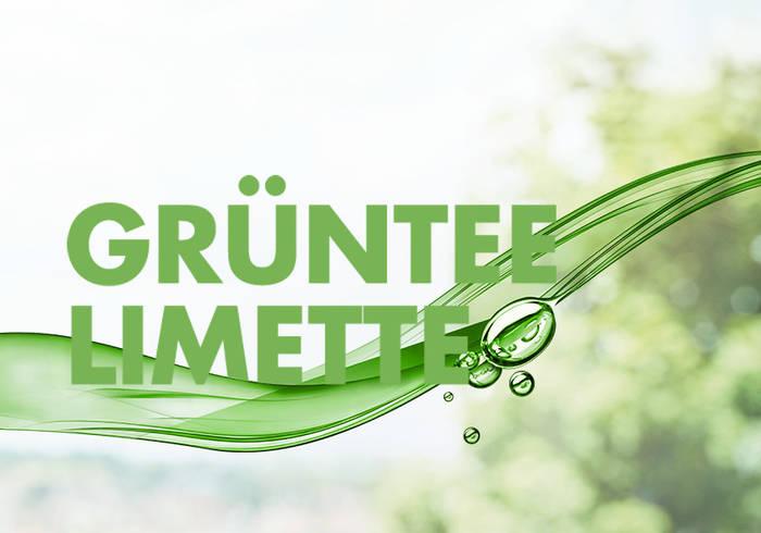 Elisabethen Quelle Grüntee Limette Schriftzug
