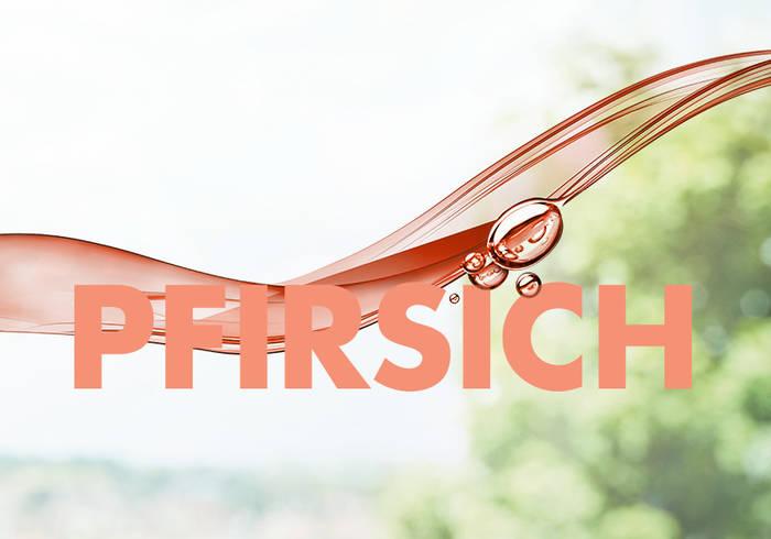 Elisabethen Quelle Pfirsich Schriftzug