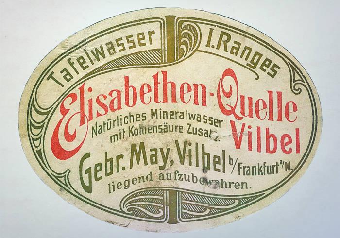 Altes Etikett der Elisabethen Quelle